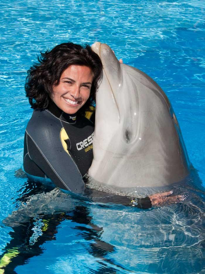 nadar con delfines en Canarias